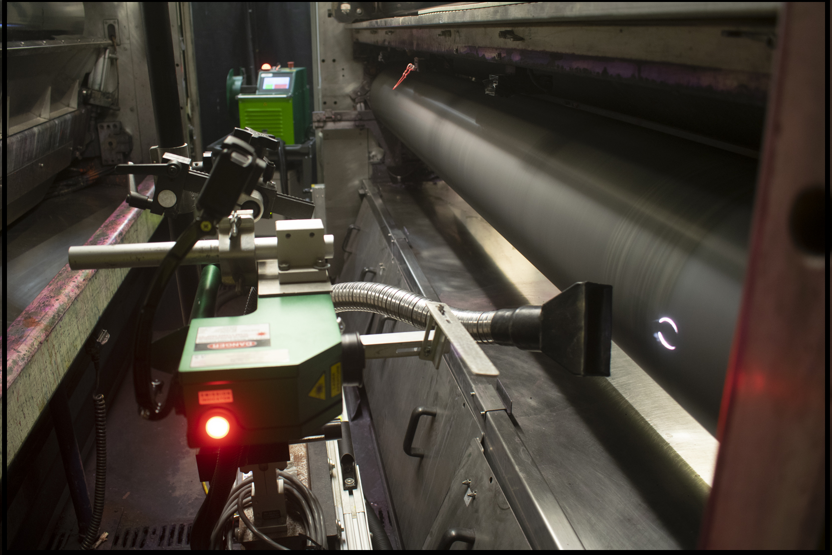 On-Press Laser Cleaning